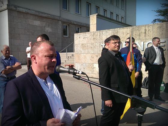 Wahlkampfauftakt zur Landtagswahl 2014 Erfurt