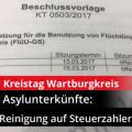Kreistag des Wartburgkreises: Reinigung der Asylunterkünfte auf Steuerzahlerkosten