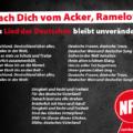 Mach Dich vom Acker, Ramelow. Das Lied der Deutschen bleibt unverändert!